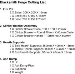 Fire Pot Design - Parts List