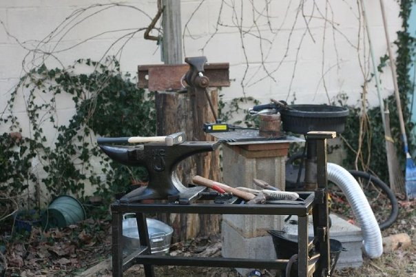 Backyard Forge just the basics - members gallery - i forge iron