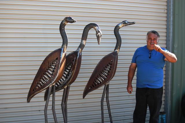 Glenn Moon and his birds