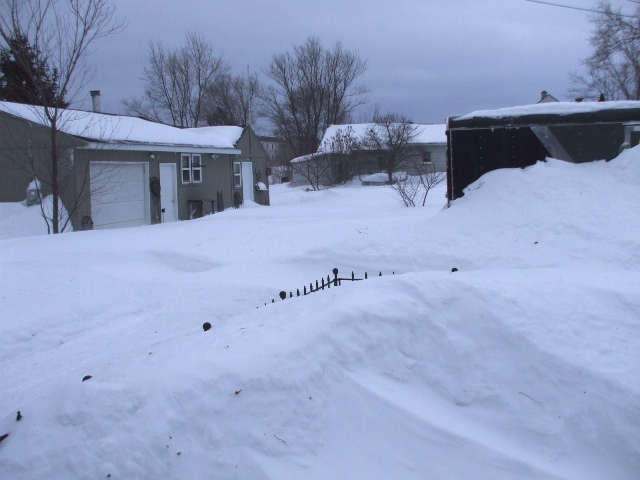 Snow In yard And shop