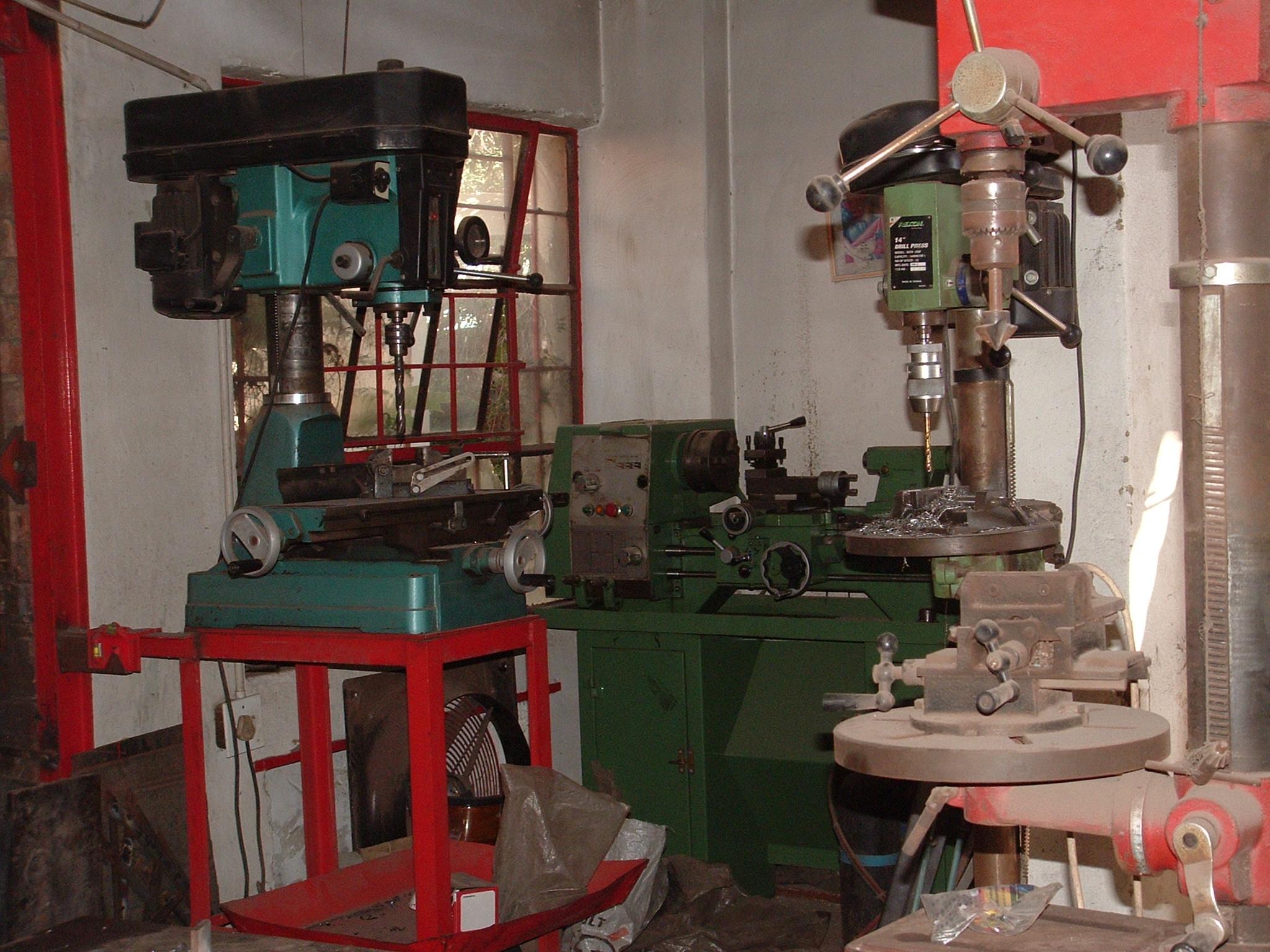 small machining area