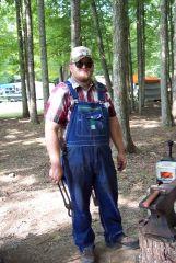 me blacksmithing at the park