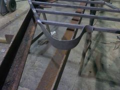 Hand rail I forged for my boss at work