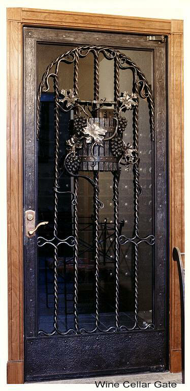 Wine Cellar Gate Member Galleries I Forge Iron