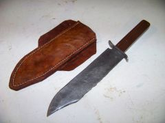bowie knife and sheath shown separate