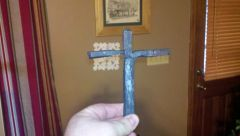 Very first try at forging. Split cross