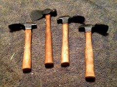 3 Adze's and a hatchet