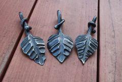 Forged leaf pendants/key fobs