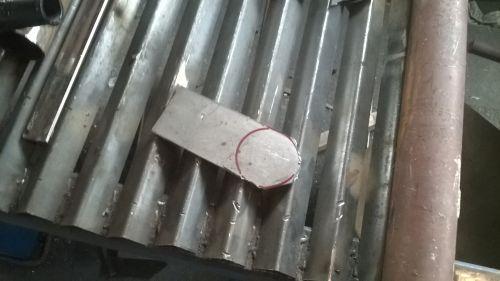 ash dump gate plate