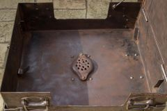 Forge bottom with grate