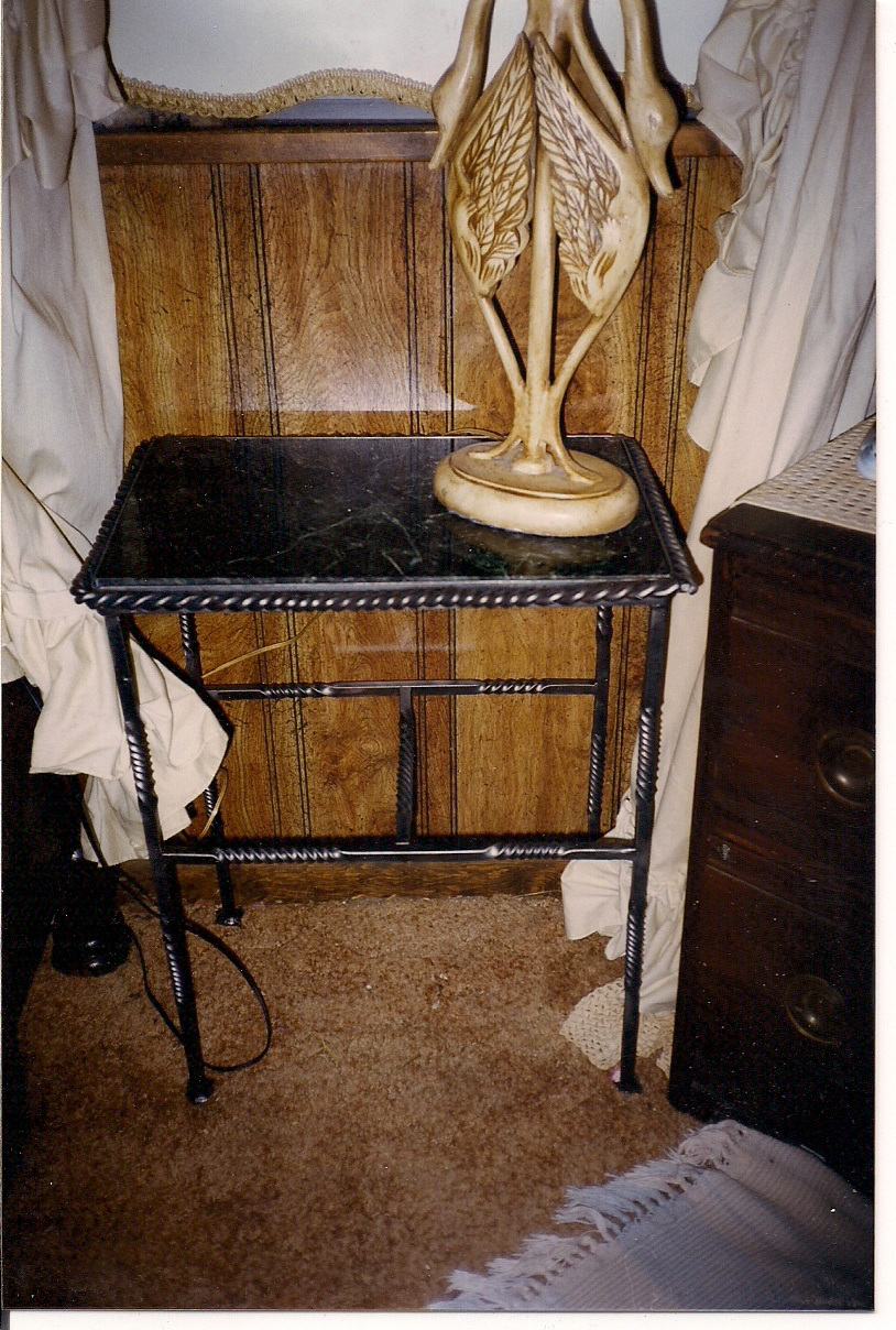 Iron table w/Marble top