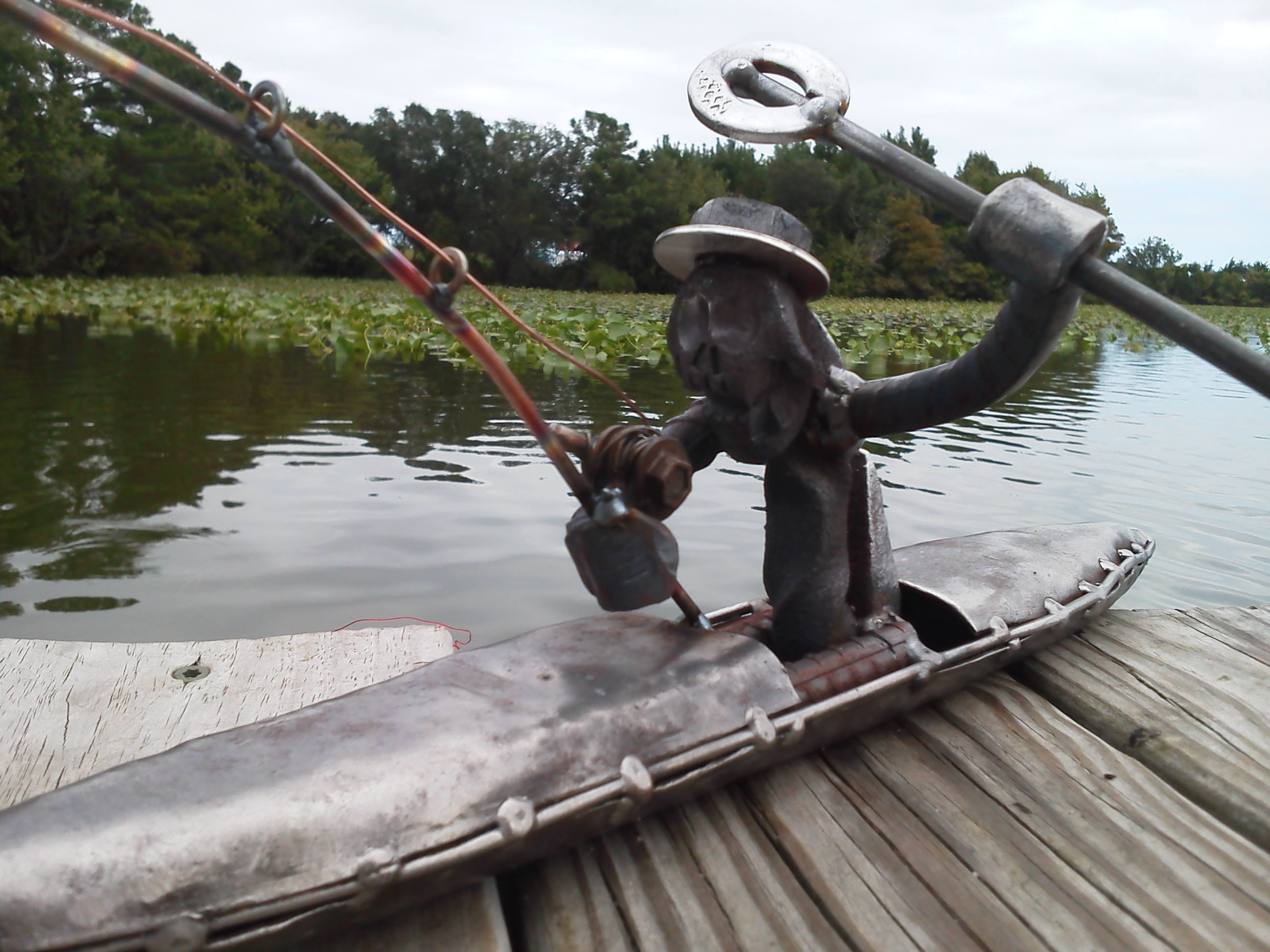 Railroad Spike Man went Kayak Fishing