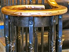 forged bronze railing   newel post