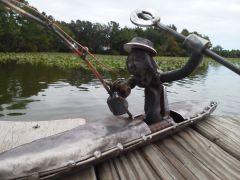 Railroad Spike Man went Kayak Fishing