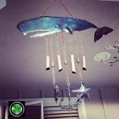Whale of a wind chime