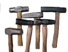 Some of my work-hammers by Marius