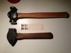 cross-peen vs. rounding hammer
