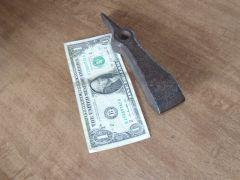 'Dengelstock' scythe anvil