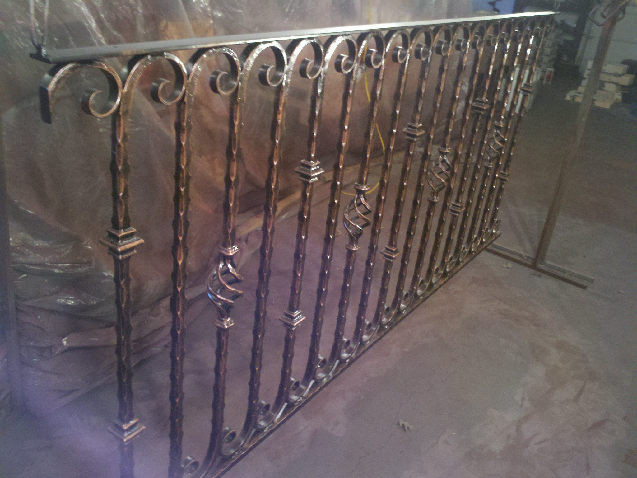 scroll railing with final paint