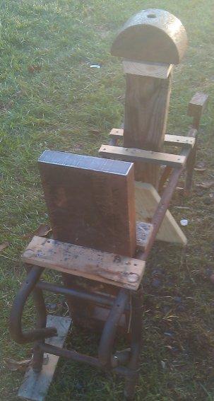 Block anvil and half round