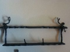 Hand forged pipe rack 2