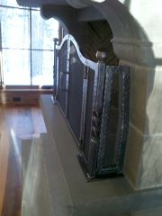 Fireplace screen door assembly