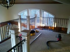 scrolled railing install