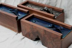 Three Walnut Tea Boxes