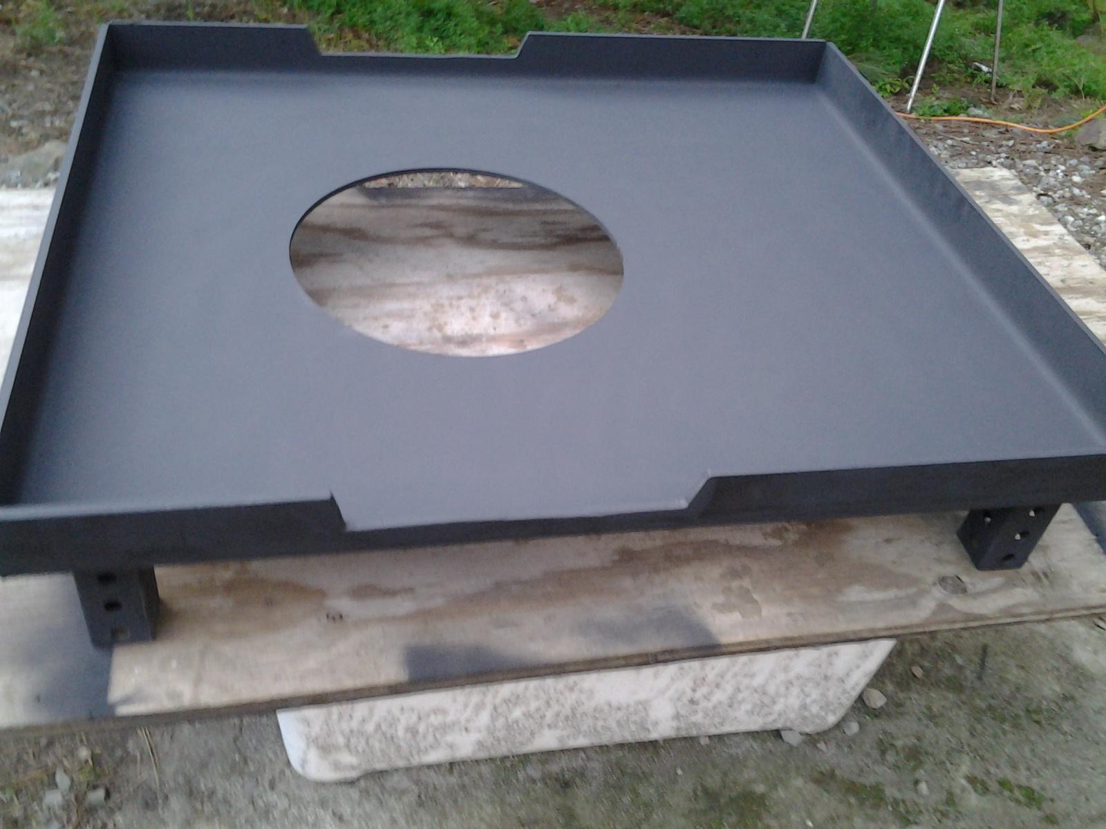 Forge hearth pan