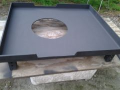 Forge hearth pan