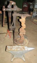 Vise with homemad stand