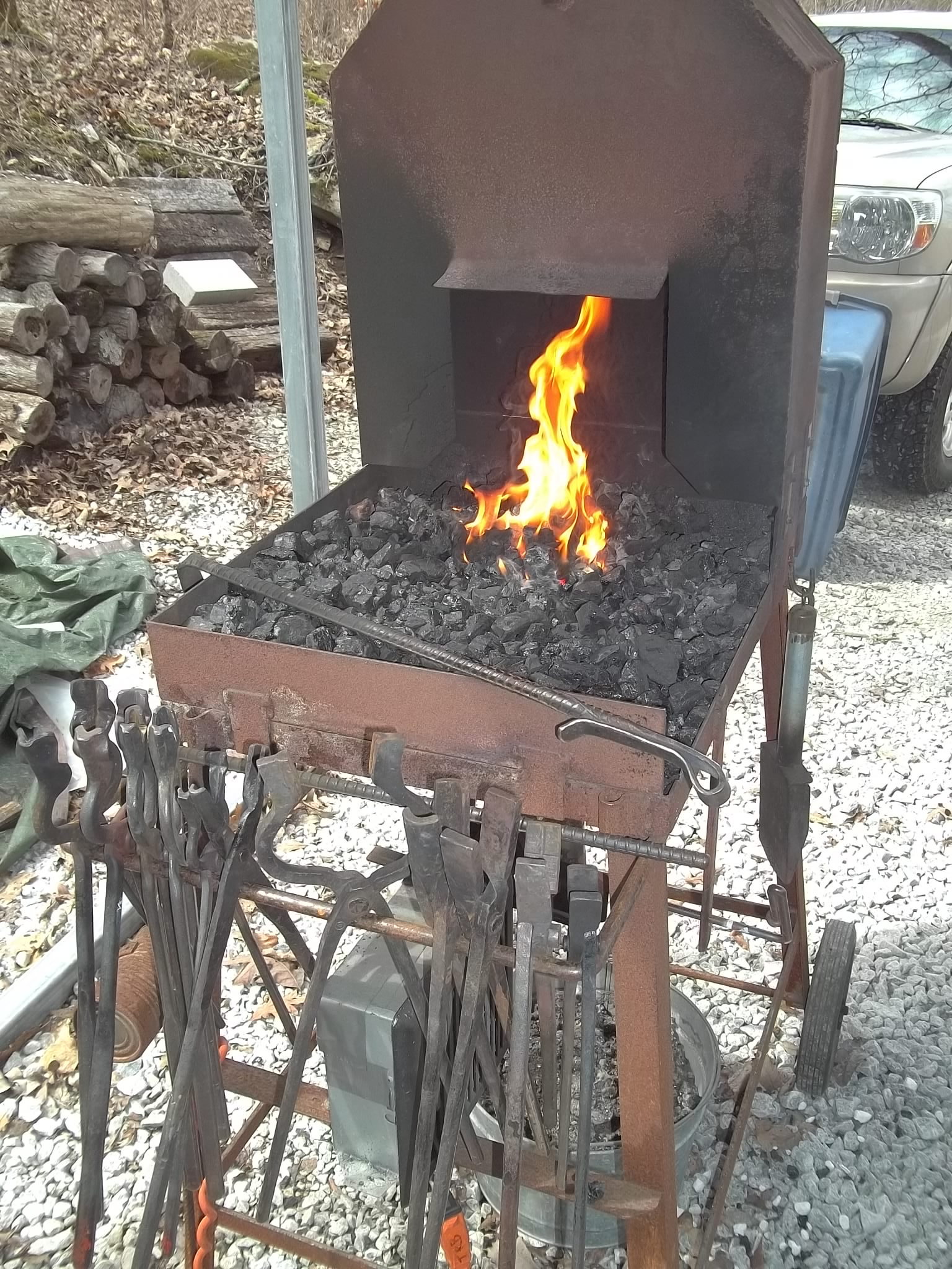 My Folding Coal Forge Design - Solid Fuel Forges - I Forge ...