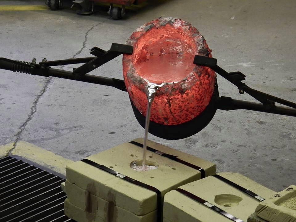 Pouring Aluminium