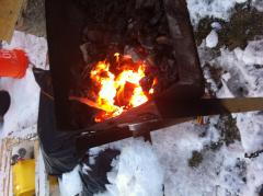 forging in the snow