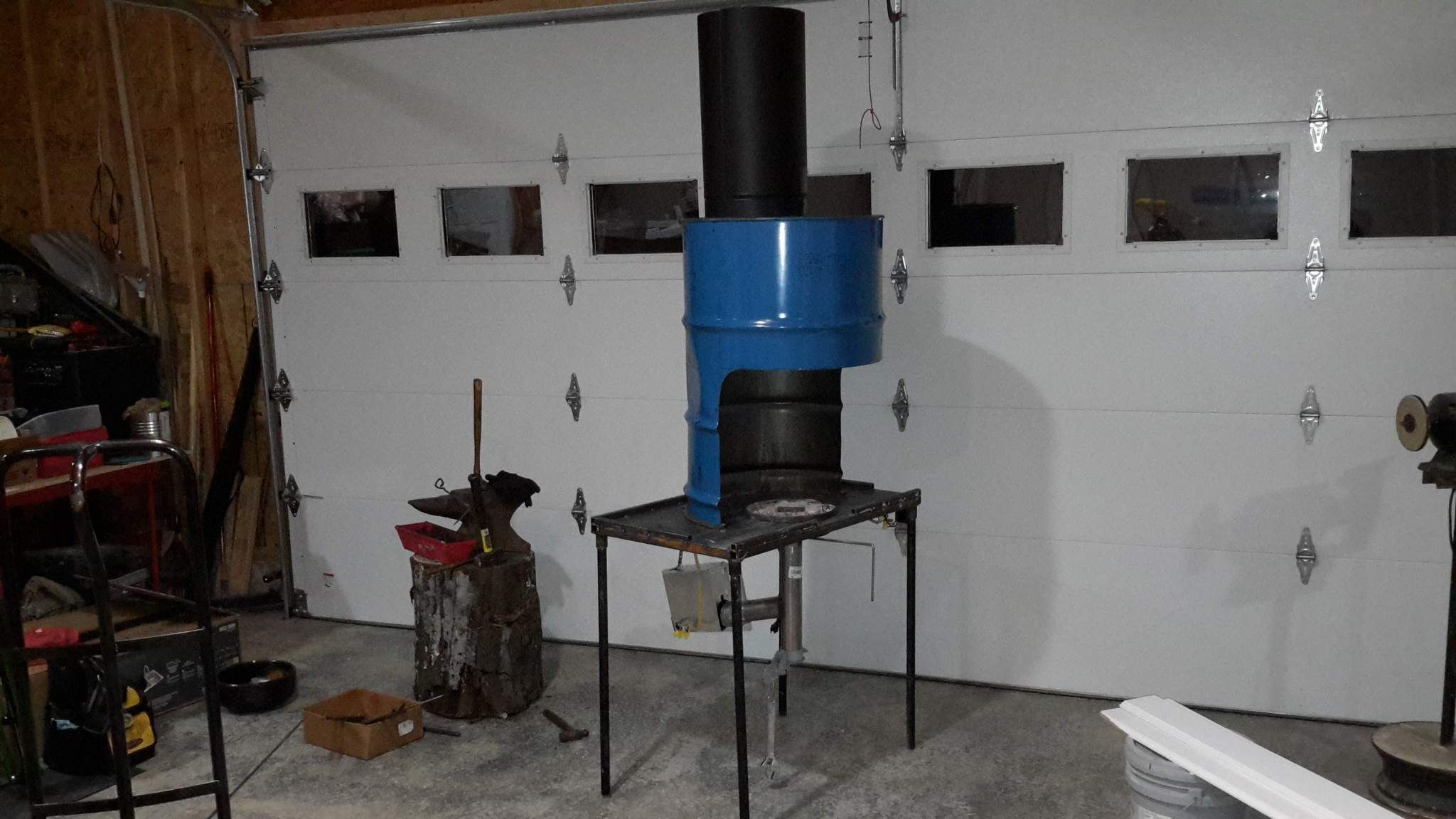 55 Gallon Barrel Traveling Forge Wip Solid Fuel Forges