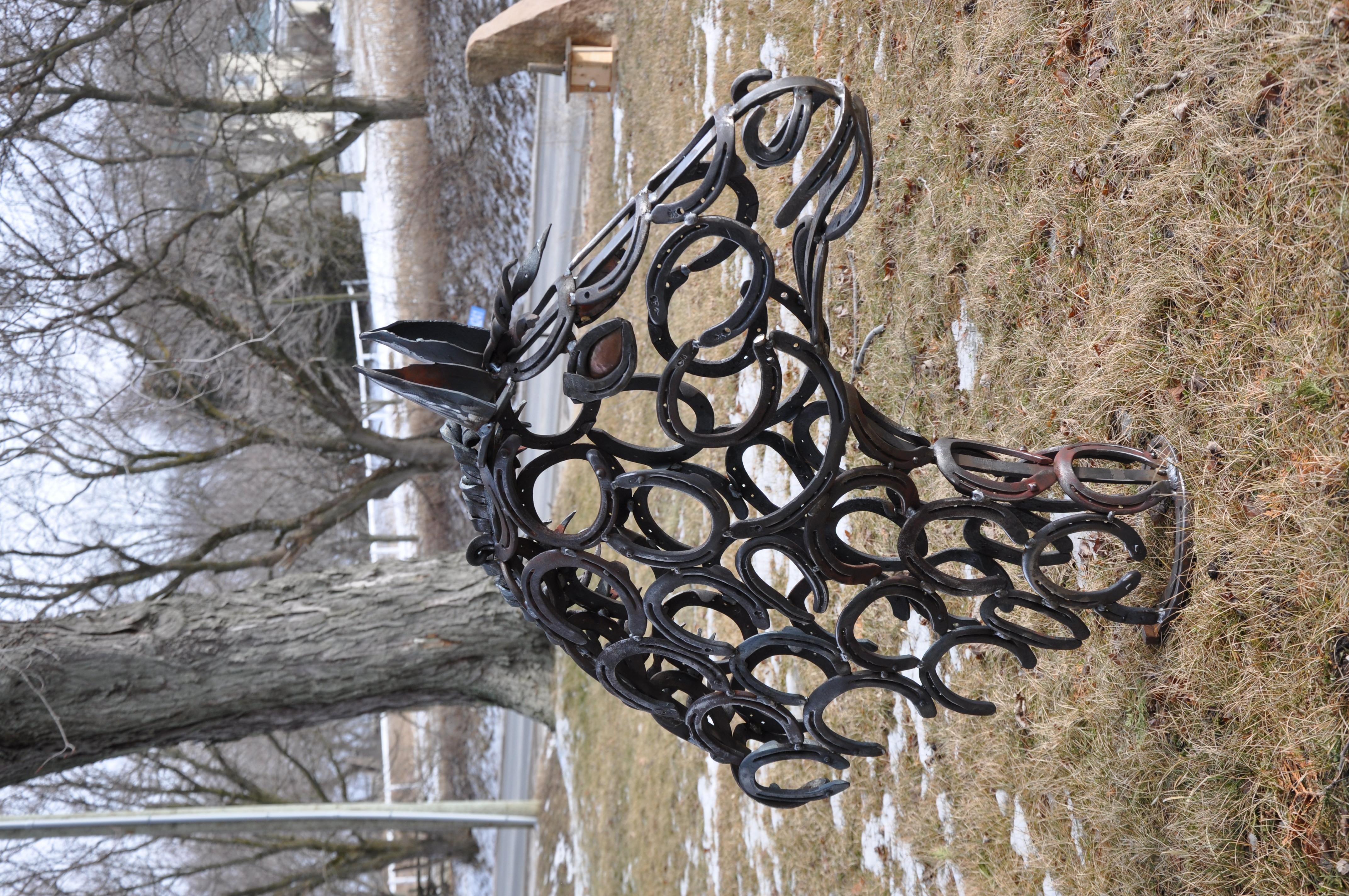 Horseshoe Horse Head Metal Sculpture Amp Carvings I