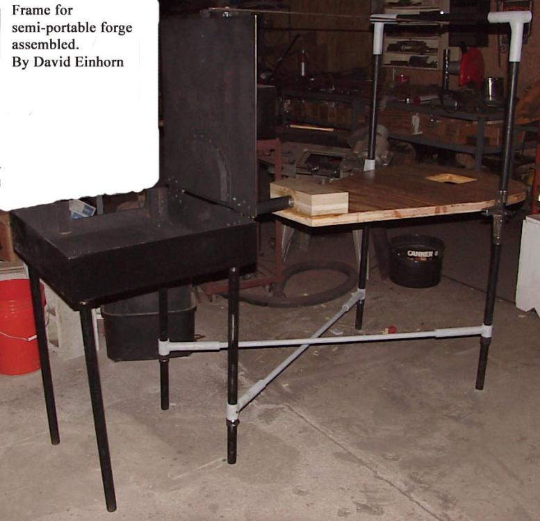 Frame for semiportable forge assembled.jpg