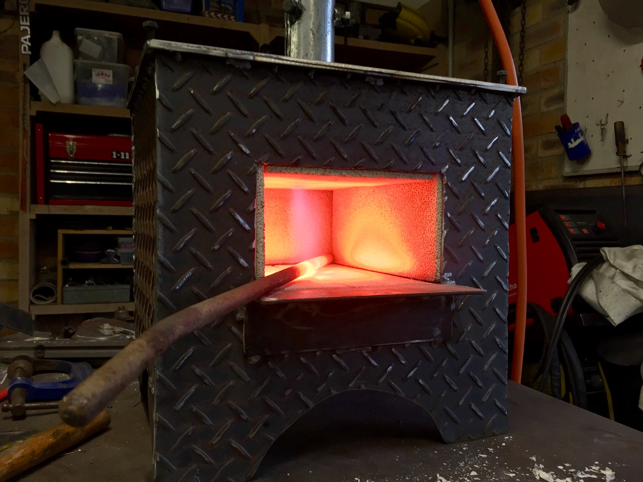 My New Gas Forge Gas Forges I Forge Iron