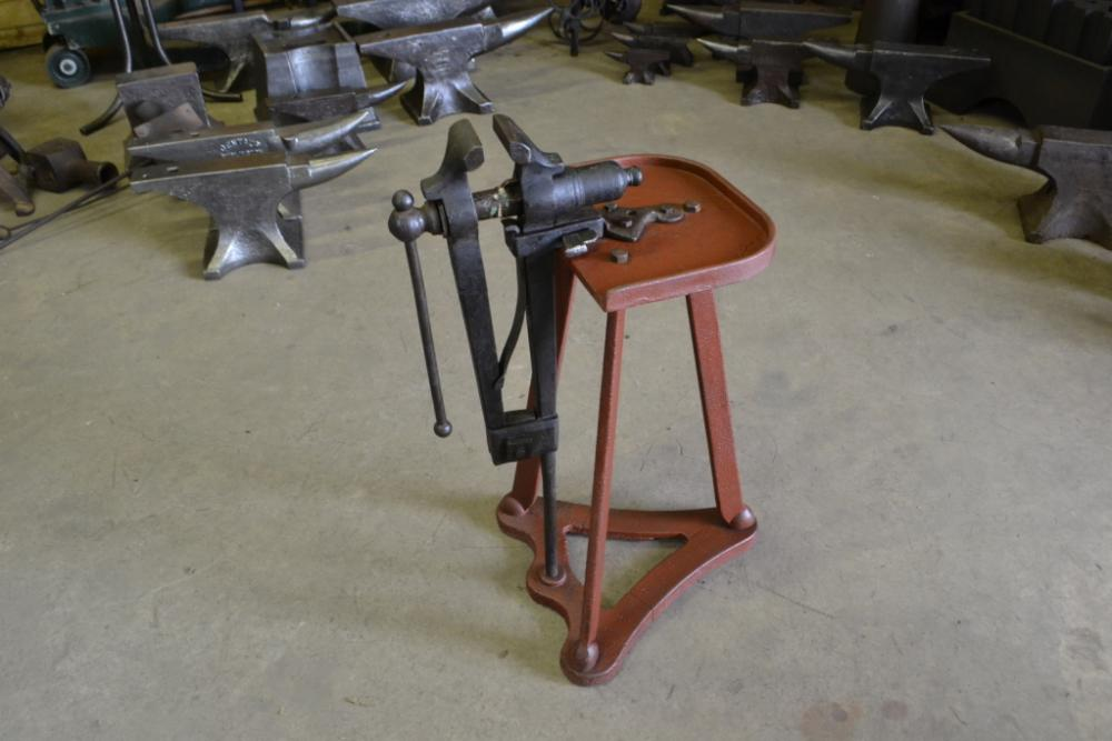 4in English leg vise with rare cast iron stand.jpg