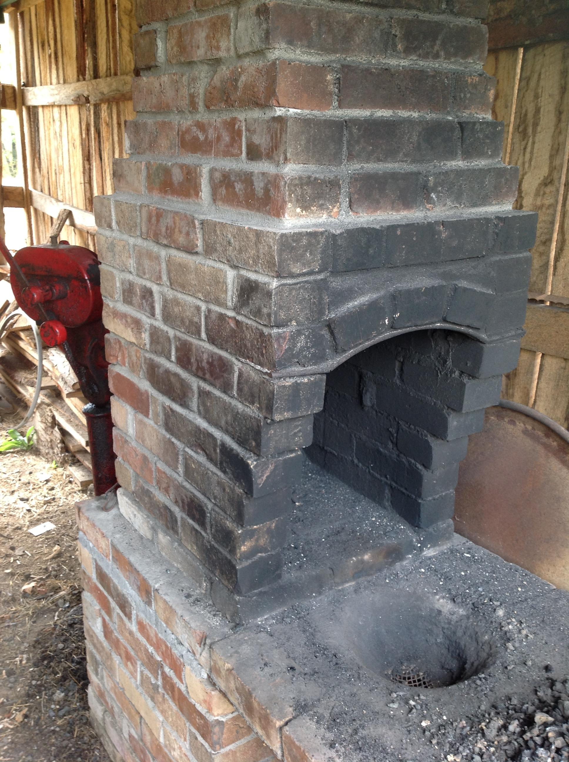 Brick Blacksmith Forge : S blacksmith forge restoration solid fuel forges