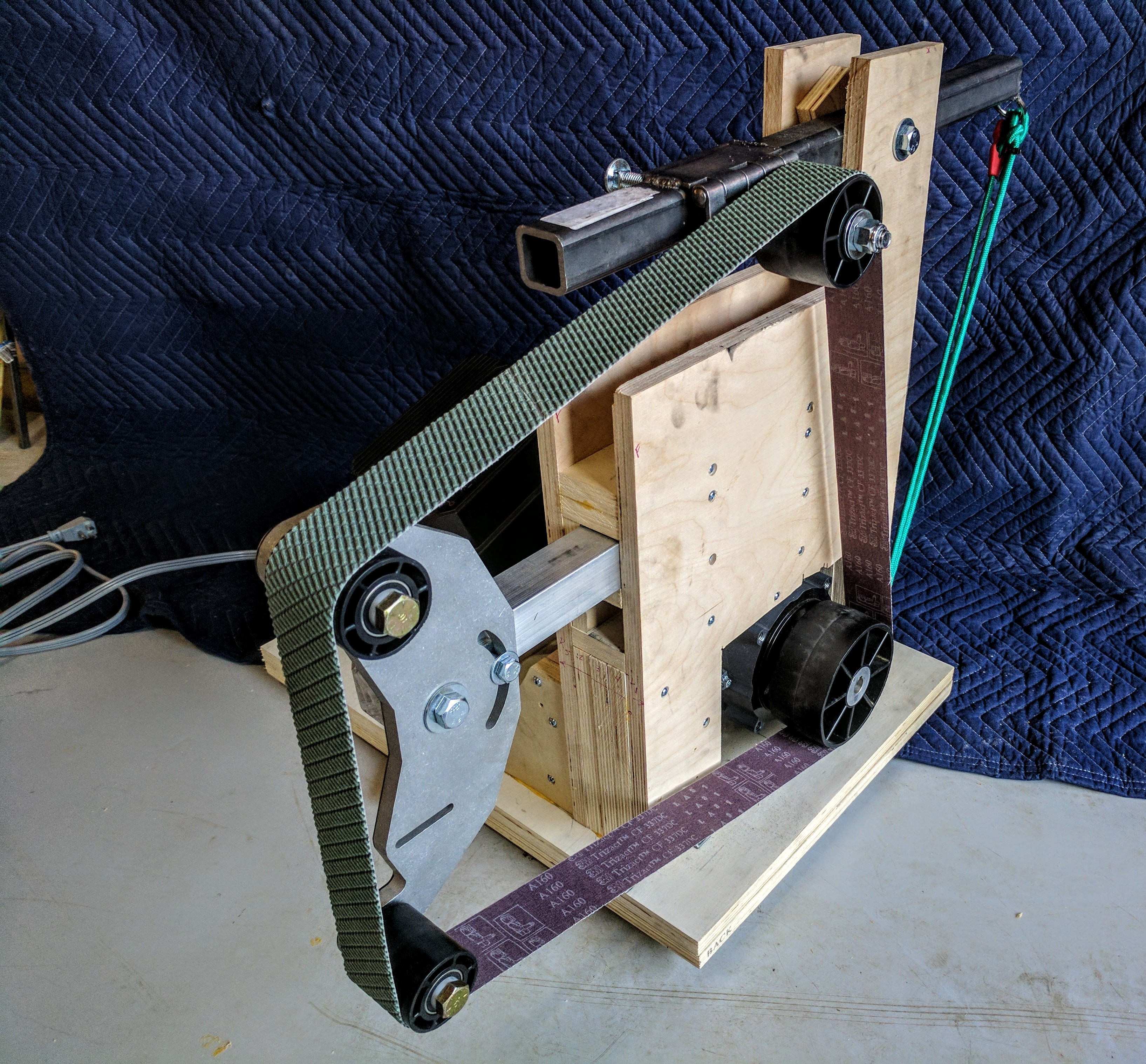 Diy 2x72 Belt Grinder Plywood Grinders Sanders Etc