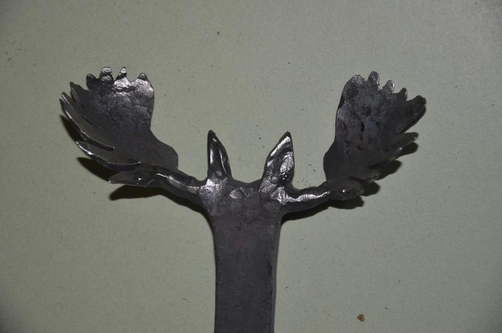 Moose head first try metal sculpture carvings i