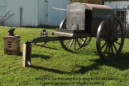 Traveling Forge built by David Einhorn author of the book Civil War Blacksmithing cropped.jpg