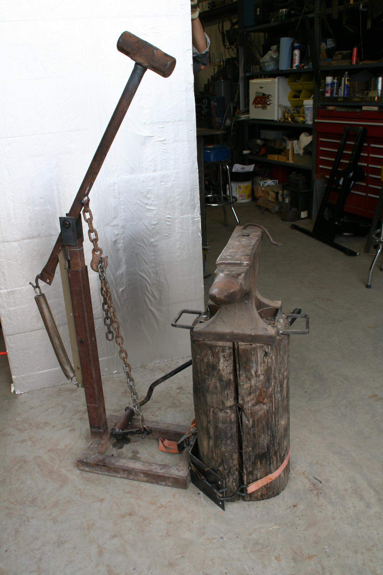 Treadle hammer mechanics? - Page 2 - Power Hammers, Treadle