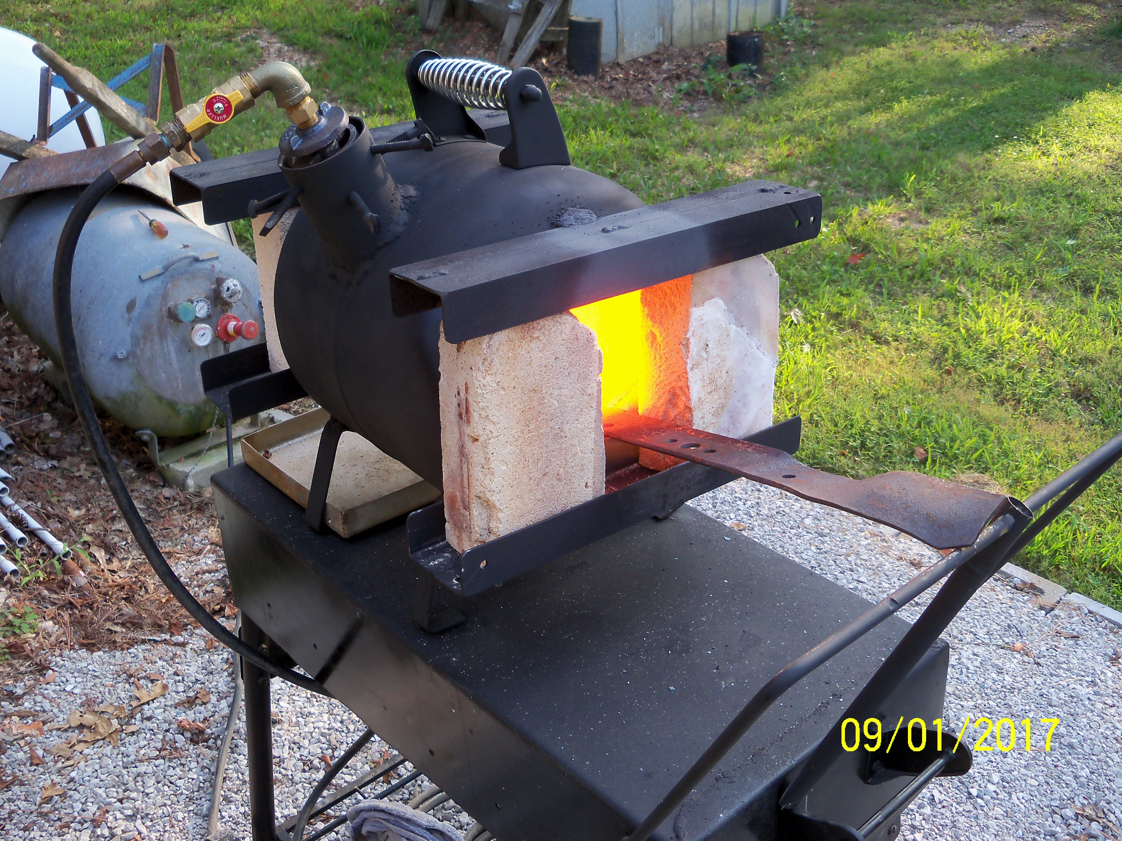 Stand/Cart for forge, any pics? - Gas Forges - I Forge Iron