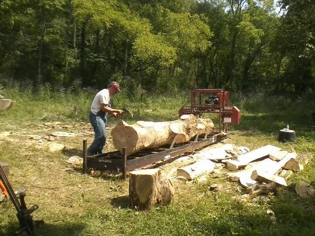 Debarking Log