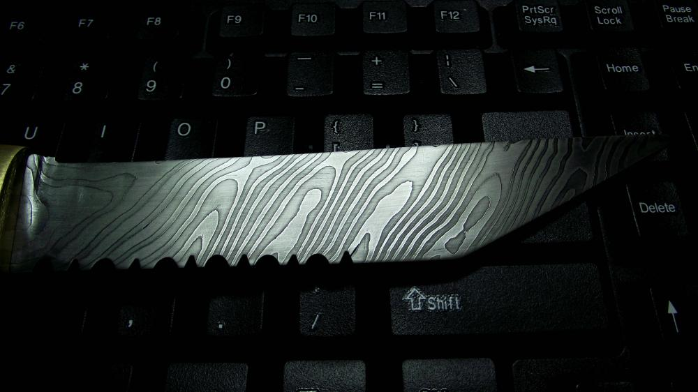 Twisted Damascus, first blade